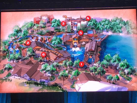 A rendering of what the new Mystic River Falls ride will look like at Silver Dollar City.