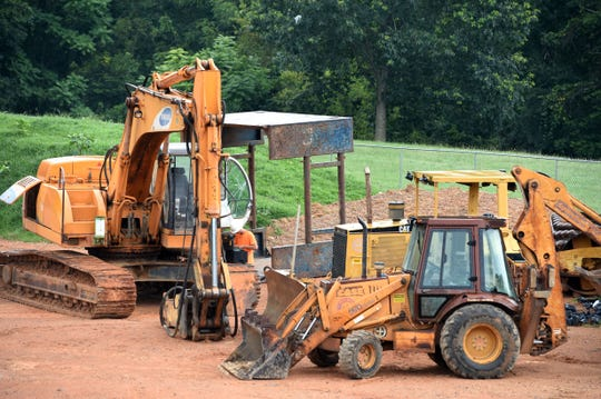 The new construction at Staunton High School has taken away the lower practice field which has been used in the past for junior varsityfootball,and shot and discus for track.