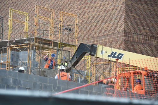 Construction is ongoing at Staunton High School.