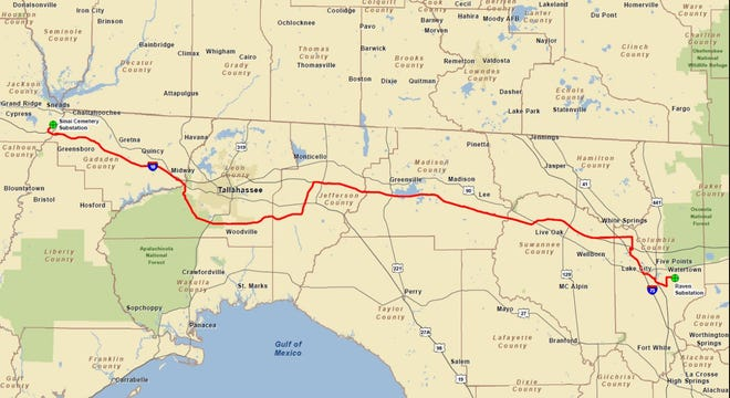 NextEra Energy has submitted its application for a seven-county transmission line project for consideration by the Florida Department of Environmental Protection and federal authorities.