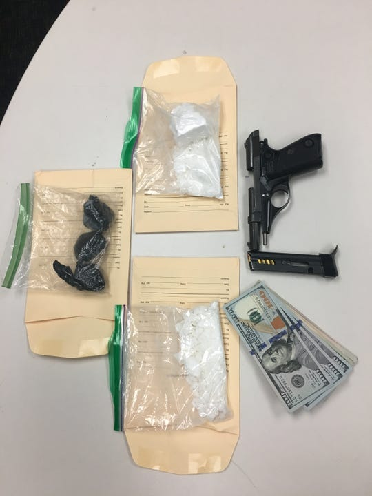 Authorities confiscated 468 grams of heroin, 83 grams of cocaine and 524 ecstasy pills when they arrested a Newhall man in Simi Valley Friday.