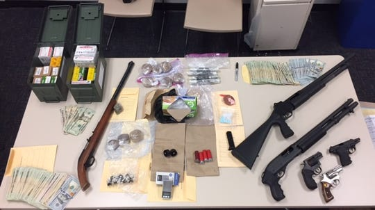 Officials seized over three pounds of heroin packaged for sale, six firearms, ammunition and a large sum of cash after their two-month long investigation of an Oxnard resident.