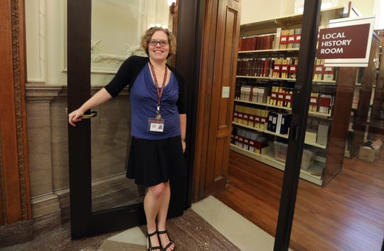 Kira Thompson, local history librarian at the Adriance Memorial Library in Poughkeepsie Aug. 13, 2019.