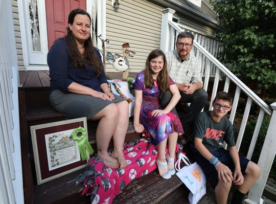 Diana and Dennis Rush with their children Ginger and Leo at their Staatsburg home Aug. 12, 2019. They will be entering items in the Dutchess County Fair.