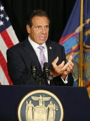 Gov. Andrew Cuomo announces that  Peekskill will be getting 10 million dollars for revitalizing the city's downtown while at the Hudson Room in Peekskill Aug. 13, 2019.