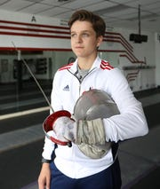 Mason Moskowitz of Poughkeepsie at the Phoenix Fencing Center in Poughkeepsie  Aug. 13, 2019. He recently won three medals in fencing at the Maccabi Games in Hungary.