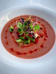 Cherry gazpacho at Ibiza Kitchen in Chappaqua.