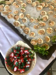 "Oysters at a ""Poolside Event"" at Castle Hotel & Spa in Tarrytown."