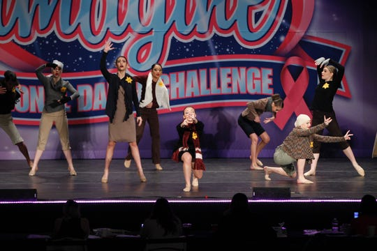 "The Encore Dance Academy team performed a piece called ""Schindler's List"" at the Imagine National Dance Challenge."