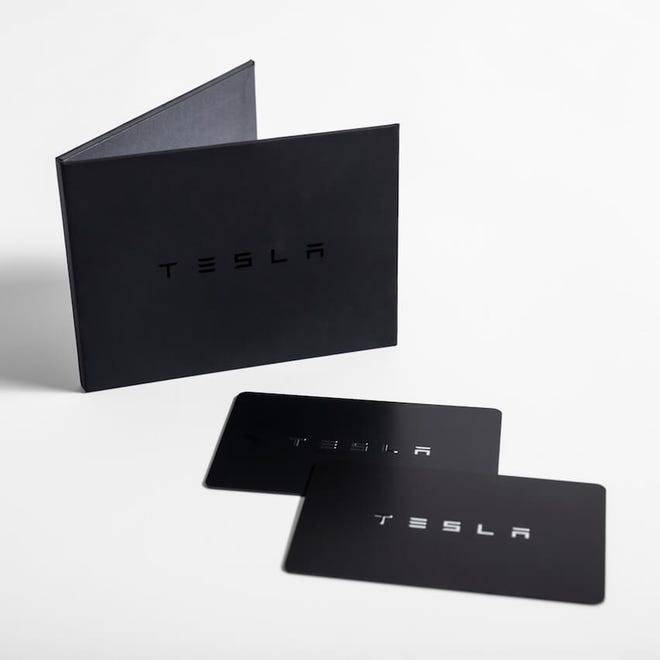 Tesla's Model 3 comes with two key cards which are convenient for when your phone is not accessible, out of battery, or if someone else needs temporary access, such as a valet.