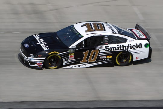 Aric Almirola drivers the No. 10 Ford.