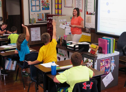 A newly air conditioned classroom in Bement, Illinois, in 2013.
