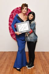 Caitlyn Jenner, left, and Kylie Jenner at the 2015 Glamour Women of the Year Awards on Nov. 9, 2015, in New York City.