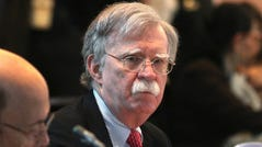 National security adviser John Bolton attends a conference of more than 50 nations that largely support Venezuelan opposition leader Juan Guaido in Lima, Peru, on Aug. 6, 2019.