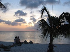 1. Eagle Beach, Oranjestad, Aruba Featuring soft, white sand, Eagle Beach is located about 2 miles from the cruise port in Oranjestad, Aruba. The beach is open to the public for free, but it's lined with hotels and resorts, meaning drinks and lounge chairs (both for a fee) are never far away.