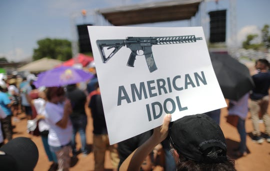 A protest on Aug. 7, 2019, in El Paso, Texas.