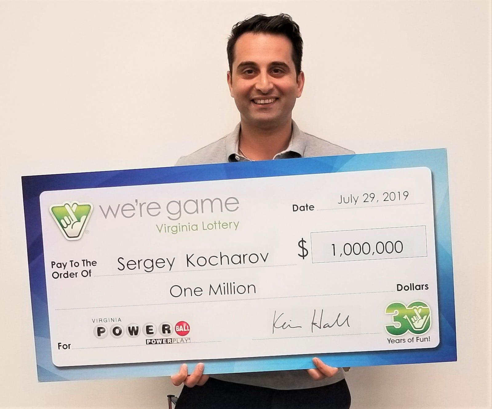 Washington Capitals executive Sergey Kocharov wins $1 million lottery prize