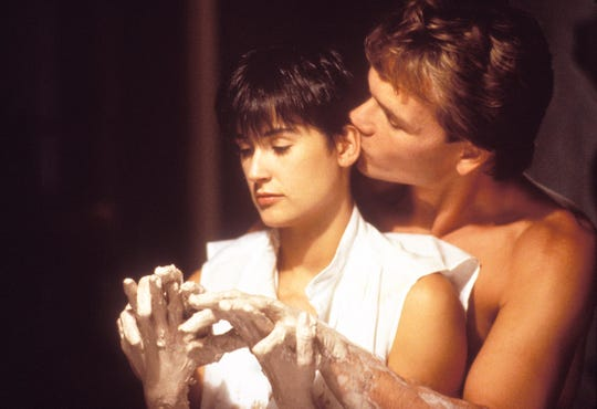 "Patrick Swayze and Demi Lovato starred in 1990's romantic ""Ghost."""
