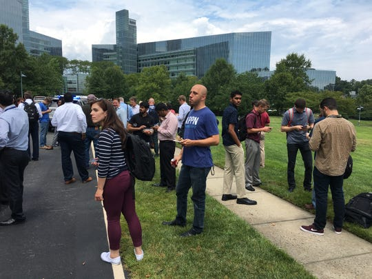 USA TODAY headquarters outside Washington, D.C., was evacuated  on Aug. 7, 2019. The alarm about an armed person in the building turned out to be false.
