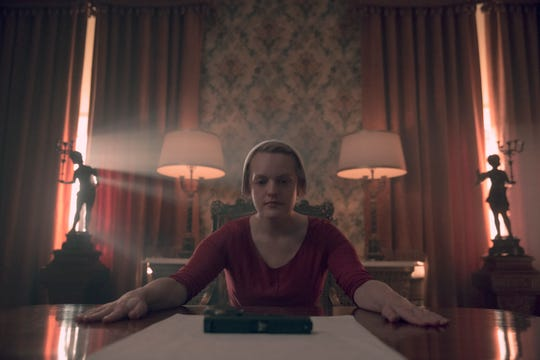 "Elisabeth Moss as June in ""The Handmaid's Tale."""