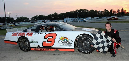 Brandon Reichenberger, a girls basketball coach at Appleton West High School, has returned to racing at Wisconsin International Raceway in the track's quarter-mile late model class. The third-generation racer from Appleton leads the division point standings heading into the final night for the division.