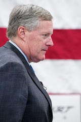 U.S. Rep. Mark Meadows,R-Transylvania,visited Rinehart Racing, a manufacturer of exhaust systems for Harley-Davidson and Indian Motorcycles, in FletcherAugust 14, 2019.