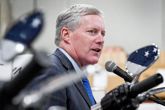 In Fletcher visit, Mark Meadows touts U.S. manufacturing efforts amid trade war with China