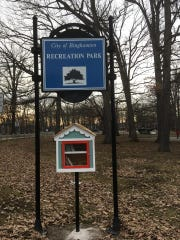 A Little Free Library was installed in the City of Binghamton's Recreation Park in March.