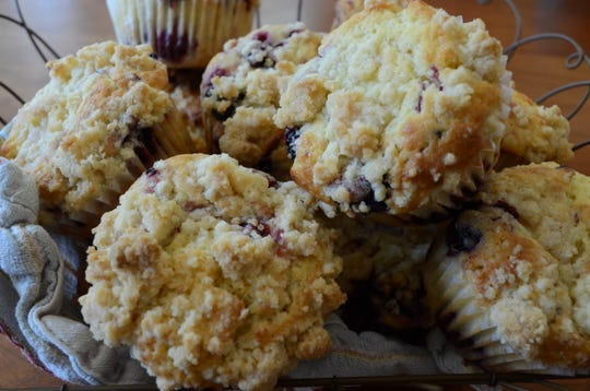 A crumb topping makes this muffin an extra special treat.