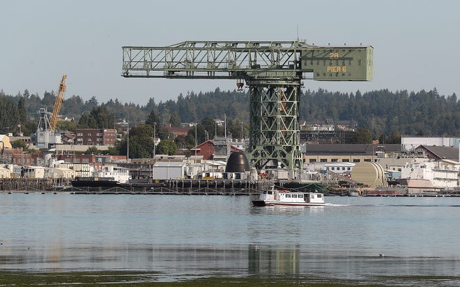 FILE — The Admiral Pete cruises past Puget Sound Naval Shipyard in August 2019.