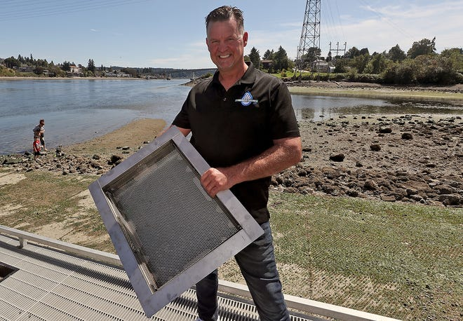 Ken Perry of Stormwater Controls talks about his catch basin insert kit, called the Retain Drain, which is in use by Costco to catch stormwater and its debris in its parking lots.