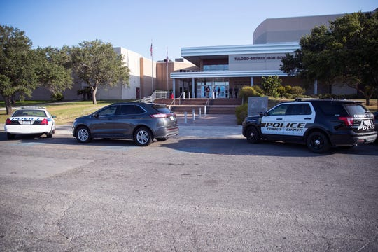 Tuloso-Midway High School and the district had several responses on Wednesday, August 14, 2019, following a threat of a school shooting that was made the night before online. In addition to a law enforcement presence, students were entering the school at one entrance, were having their backpacks checked and had auxiliary personal stationed around the school as extra eyes.