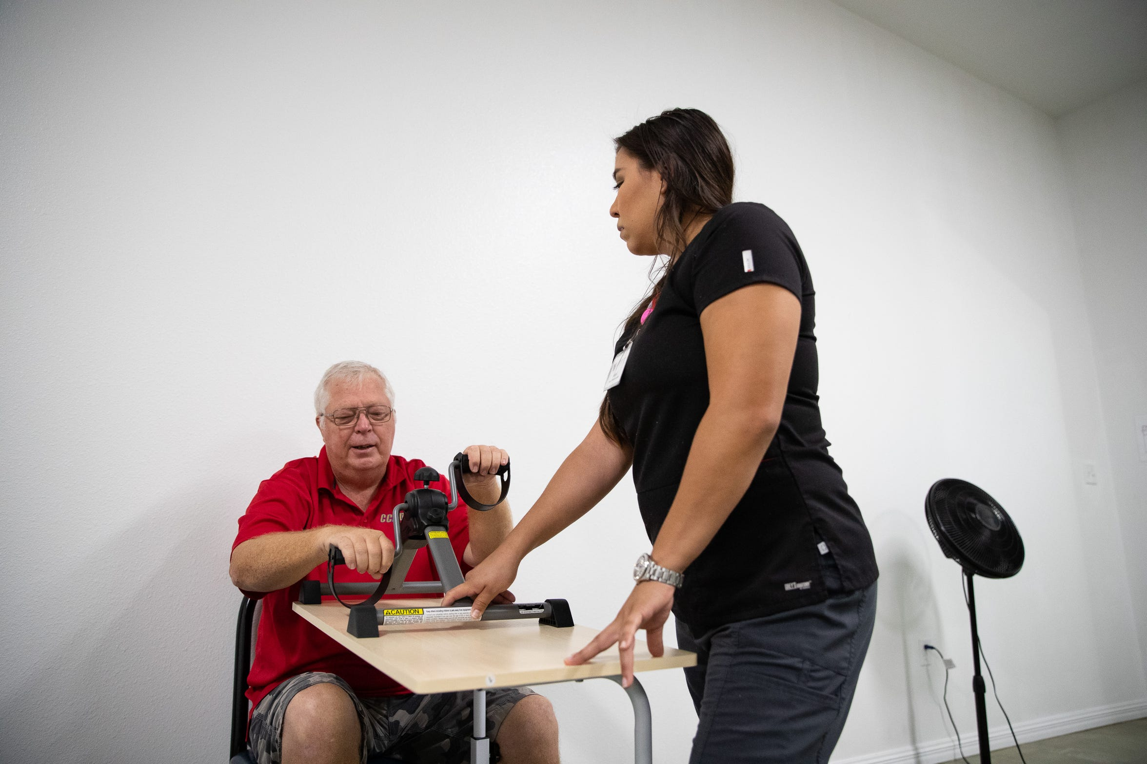Larry Cox receives physical at Dynamic Orthopedic Physical Therapy Wellness Clinic a newly opened in Flour Bluff along South Padre Island Drive.