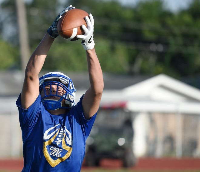 Moody High School hosts a football practice, Tuesday, Aug. 13, 2019.