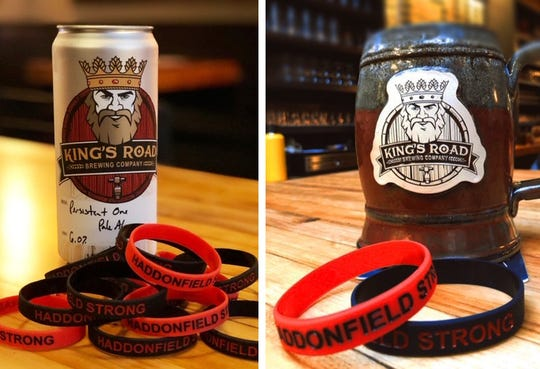King's Road Brewing Company in Haddonfield is selling Persistent One 08033 pale ale as a fundraiser for flood victims. The brewery and many other businesses in town are also selling  'Haddonfield Strong' fundraisers for a $3 donation.
