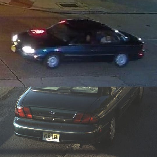 Police are seeking this vehicle in connection with recent paintball attacks on Camden pedestrians.