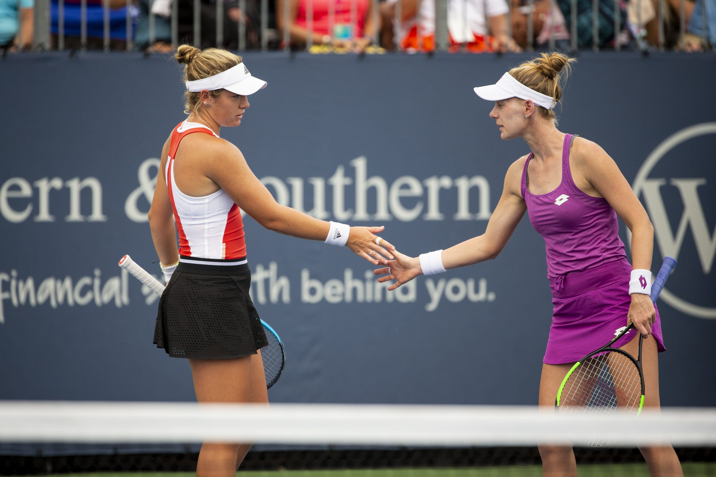 McNally, Riske all smiles after thrilling doubles win at W&S Open
