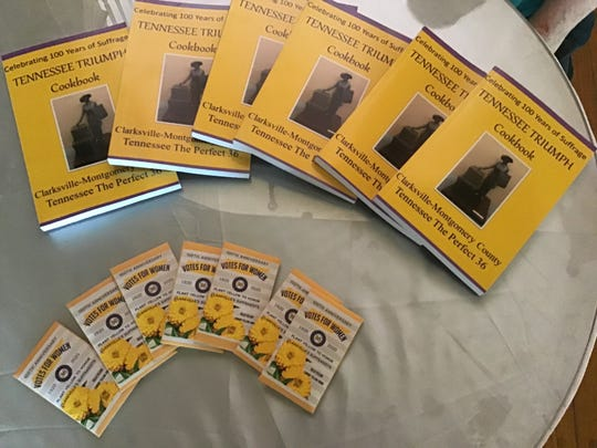 Family and Community Educators are following in the tradition of original suffragists, raising funds for the Tennessee Triumph statue with sales of cookbooks, yellow flower seeds, teas and suppers. They have raised $6,654 so far with a goal of $10,000.