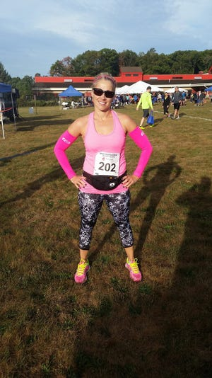 Janine Dolce-Weith at the 2015 Steeplechase Distance Run.