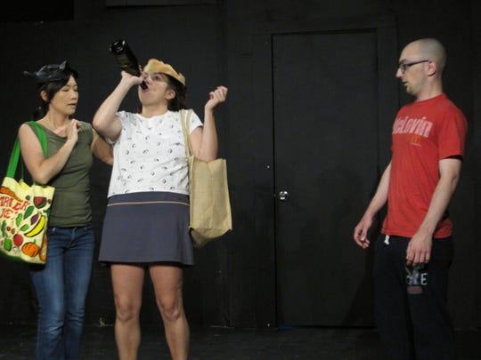 In one of the productions from 2019's BoxFest Detroit, (from left to right) Inchai Reed, Ana Gomez, and Adam Bacigal will appear in 'That's What Friends Are For,' written by Margaret Berger and directed by Audra Jantz.