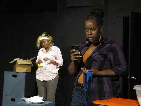 In one of the works at 2019's BoxFest Detroit, (from left to right) Rhonda Craig and Andaiye Spencer will appear in 'In Her Golden Years,' written by Steven Korbar and directed by Andaiye Spencer