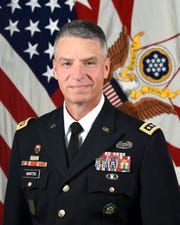 U.S. Army General Joseph M. Martin, 37th Vice Chief of Staff, poses for his official portrait in the Army portrait studio at the Pentagon in Arlington, Va., July 22, 2019.