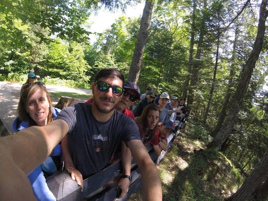 A family photo from a GoPro found by Stephanie Ray at Marquette's Black Rocks in early August. Ray and her boyfriend are searching for the GoPro's owner.