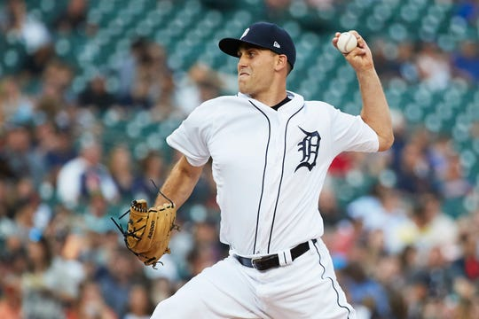 Matthew Boyd pitches in the third inning against the Mariners at Comerica Park on Tuesday.
