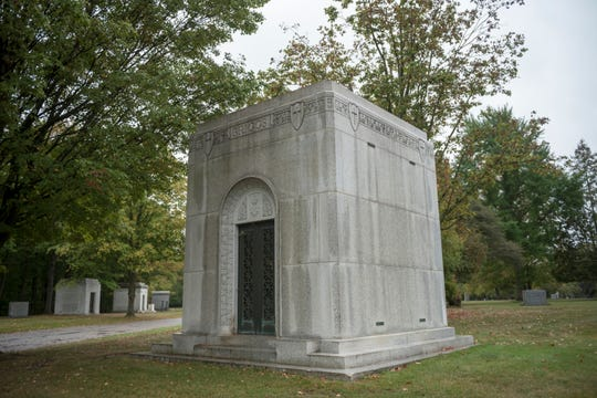 Another private mausoleum at Holy Sepulchre cemetery holds the remains of Walter Briggs Sr., who was part-owner of the Detroit Tigers from 1919-1935 and sole owner from 1935-1952.