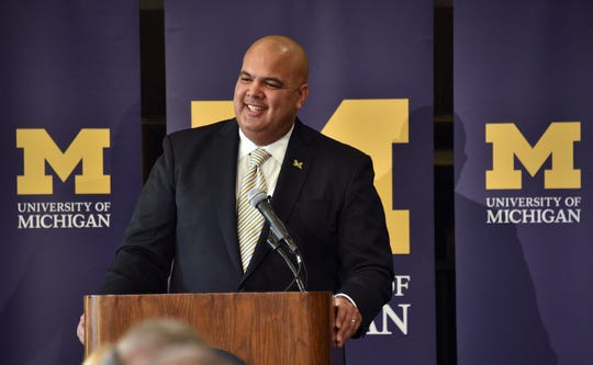Michigan athletic director Warde Manuel