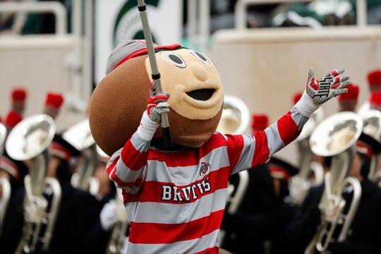 Ohio State's mascot Brutus Buckeye