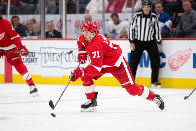 Dylan Larkin is coming off a career year where he racked up 32 goals and 73 points.