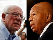"Senator Bernie Sanders, left, and Representative Elijah Cummings are opening an investigation into generic-drug giants on allegations of ""apparent coordinated obstruction"" in failing to provide lawmakers with details about their pricing practices."