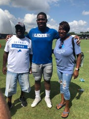 Kevin Strong Jr. is pictured with his patents, Kevin Sr. and Tanisha.